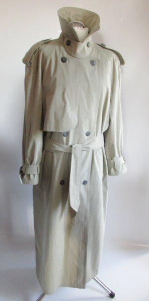 Trenchcoat Mantel Gil Bret Größe XL 42 Maxi Übergangsmantel Beige Pellerine France langer Mantel Jacke