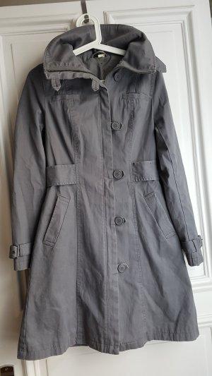 Trenchcoat Mantel Grau H&M Größe 36