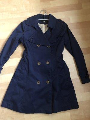 Trenchcoat/ Mantel H&M dunkelblau für Sommer/ Herbst Größe 36/ S