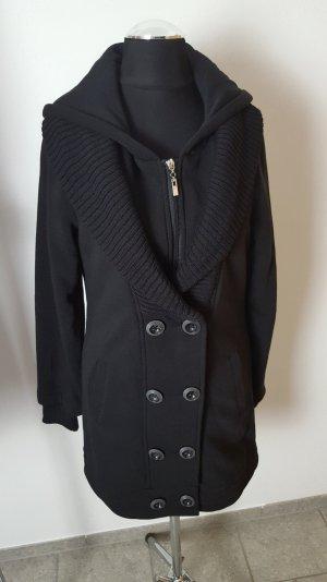 Trenchcoat Mantel Jacke schwarz 34 36