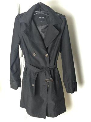 Trenchcoat Mantel Sommer XS 34 schwarz Trend wie Neu