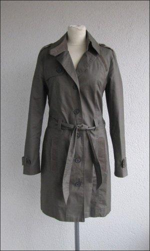 Tom Tailor Trench Coat khaki cotton