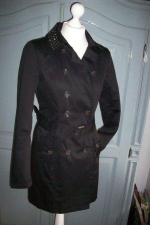 Trenchcoat Mantel von Vero Moda schwarz Gr.S/36 Kragen mit Nieten Neuwertig