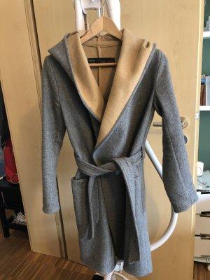 Zara Basic Hooded Coat grey-camel