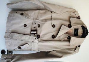 Trenchcoat mit Taillengürtel, Gr. 36, Hellbeige, 100% Baumwolle, wie neu!