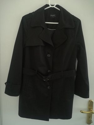 Yessica Trench Coat black mixture fibre