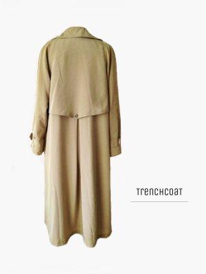 Trenchcoat und braun ocker Kamel beige LeichTe Jacke lang elegant einzigartig / Vintage / 40-42