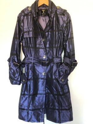 Basic Trenchcoat bleu violet-noir