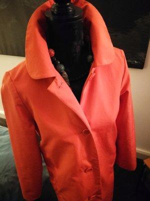 COS Trenchcoat donker oranje Katoen