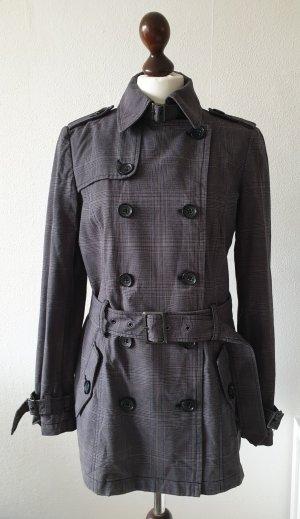 newest 1428d dc87d Trenchcoat von Esprit * Gr.38 * mit Gürtel * grau-kariert