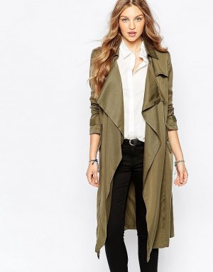 Trenchcoat Wasserfall Optik