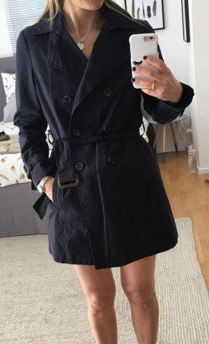 Zara Basic Trenchcoat bleu foncé