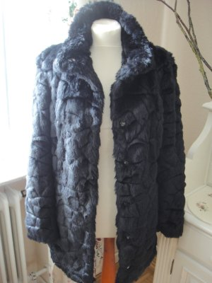 Trend Blogger Fake Fur Fell Mantel Jacke 38 M neu