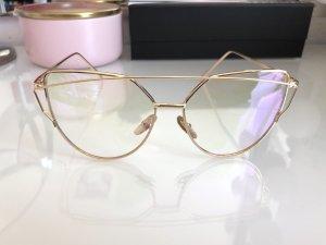 Oval Sunglasses gold-colored