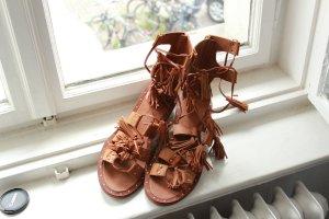 Trend Gladiator Sandalen Tassels Fringes Zara Gr. 41 Blogger