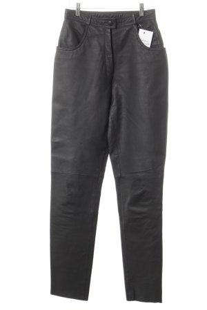 Trend Line Lederhose schwarz minimalistischer Stil