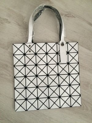 Carry Bag white-black synthetic material