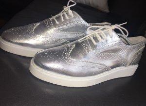 Trend-Schnürschuh in Silber