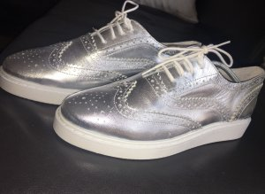Cox Lace Shoes silver-colored-white