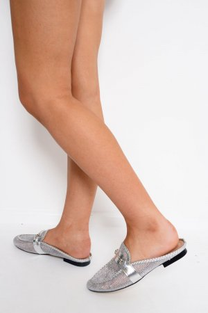 Moccasins silver-colored