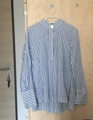 Trend Streifen Bluse Blau Weiß