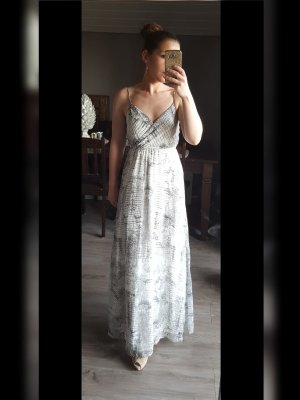 Trend Vila Maxikleid Gr S Blumenkleid Kleid Maxi Blogger schwarz weiß grau