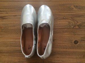Trend: Weiche Ballerina in Silber, neu/ungetragen