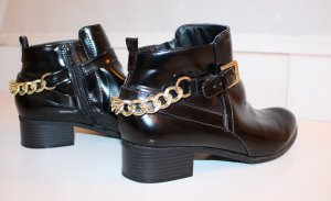 Forever 21 Ankle Boots black-gold-colored imitation leather