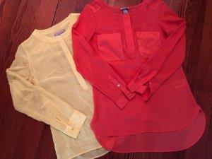 Trendfarben 2019: Blusen 2er Set GELB/ORANGE Größe 36 und XS