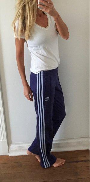 Adidas Pantalon de sport bleu polyester