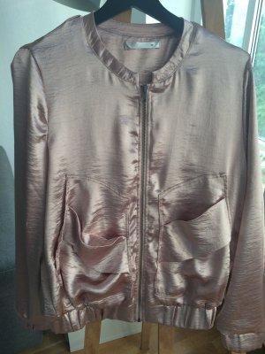 Trendige Blouson Jacke Blazer rose Metallic Größe 38 Only