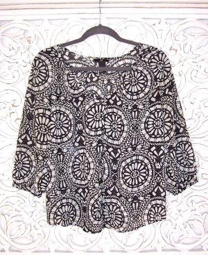 trendige Bluse Tunika von H&M * weiter Schnitt * schwarz-weiß * Gr. 36 S-M