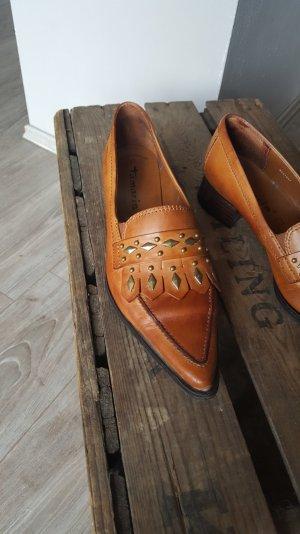 Trendige Budapester Loafers von Tamaris Gr 37 ECHTLEDER