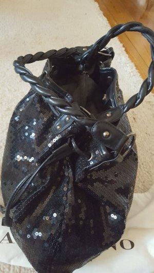 Trendige Caractère-Handtasche  mit Leder und Pailletten - Made in Italy