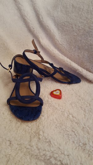 Bibi Lou Strapped High-Heeled Sandals blue leather