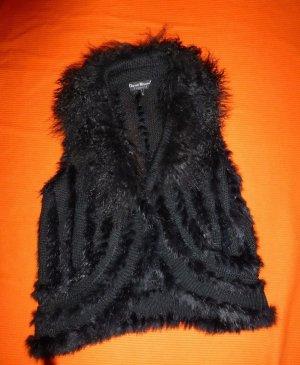 Trendige Echtfellweste David Moore Exquisite,Größe 42,schwarz,wie neu