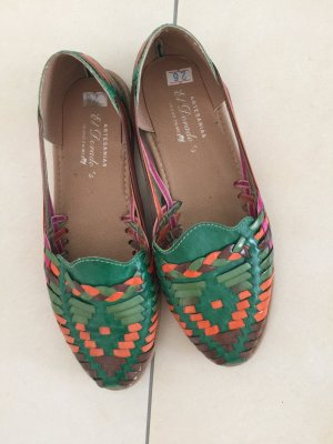 Trendige Ethnische Schuhe echtes Leder