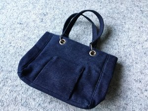 Canvas Bag dark blue cotton