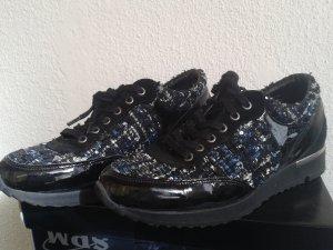 Trendige Lack-Stoff-Sneaker von SPM mit dicker Profilsohle - Gr. 40