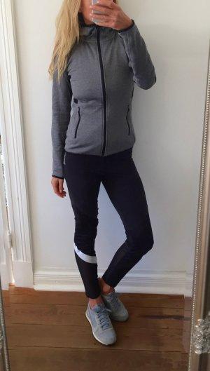 trendige Laufjacke von H&M Sport *  grau - schwarz * Gr. S 36 * NEU!