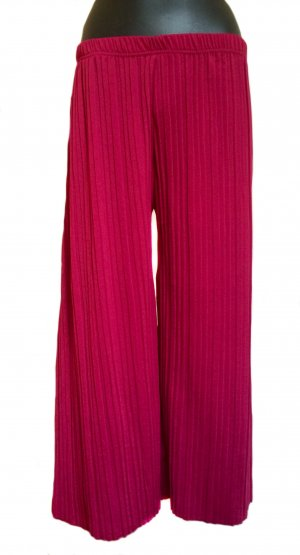 High Waist Trousers raspberry-red polyester