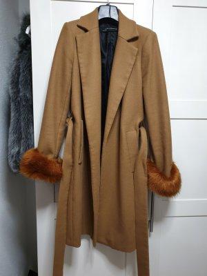 Zara Robe manteau brun-cognac