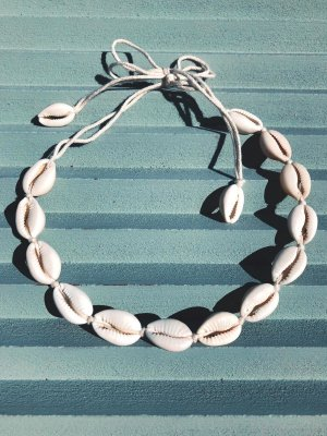 Shell Necklace white-natural white cotton