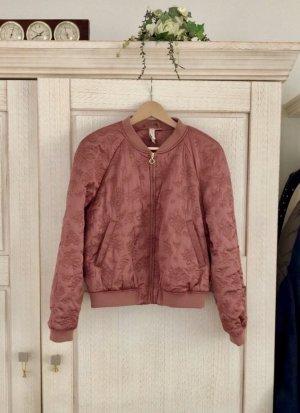 H&M Bomberjack roségoud-roodbruin Polyester