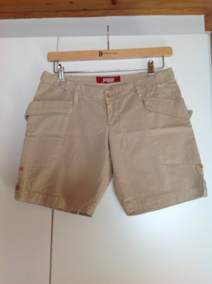 Jaggy Denim Shorts gold-colored cotton