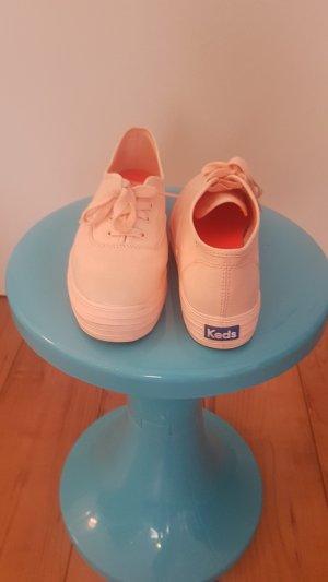 Keds Sneaker stringata arancio neon-albicocca