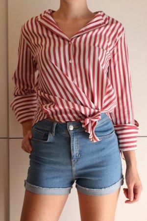 H&M Shirt Blouse white-red