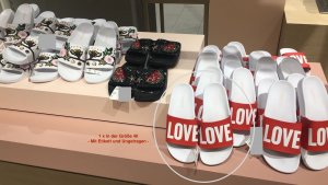 Beach Sandals white-red synthetic