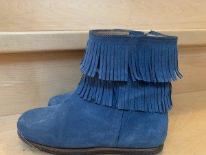 Blue Strenesse Zipper Booties steel blue-cornflower blue
