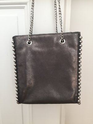 Zara Crossbody bag anthracite polyurethane